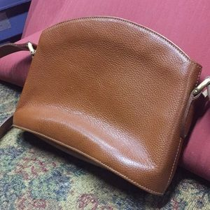 Vintage Coach small Brown Leather Crossbody